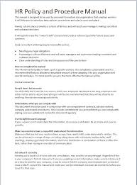 hr manual template hr documents for employers human resource