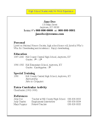 high school resume template resume template for high school student with no work experience