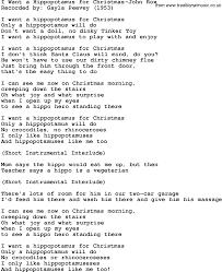 lyrics i want a hippopotamus for christmas learntoride co