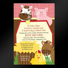 farm animals printable baby shower or birthday invitation any