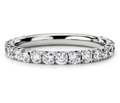 diamond wedding band for 1 ct tw pavé diamond eternity band ring in platinum shop for