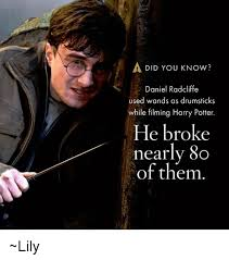 Daniel Radcliffe Meme - did you know daniel radcliffe used wands as drumsticks while