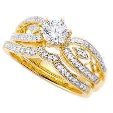 gold wedding rings yellow gold wedding ring sets for women