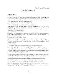Maintenance Description For Resume Best Photos Of Electrician Job Description Electrician Job