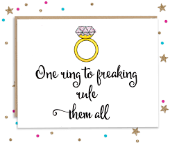 wedding congratulations one ring to rule them all wedding congratulations card