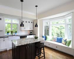 kitchen bay window seating ideas countertops backsplash kitchen islands designs with seating and
