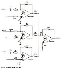 audio mixer ic wiring diagram components