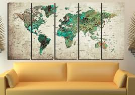 World Map Wall Decal by World Map Abstract World Map Wall Art World Map Art World Map