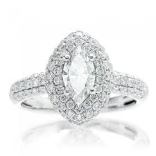 marquise diamond engagement ring diamond engagement ring pave halo setting