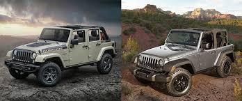 compare jeep wranglers compare the 2017 jeep wrangler vs jeep wrangler unlimited