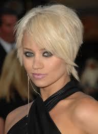 ordinary very short hairdo short polished pixie blonde haircut with long bangs hair