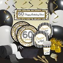 60th birthday party decorations buy 60th birthday party supplies decorations shindigz