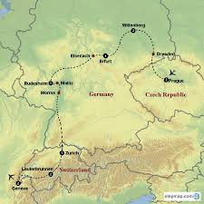 Erfurt Germany Map by Heroes Of The Reformation U2013 Reformation Tours