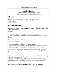 Highschool Resume Examples by Resume Nanny Job Experience