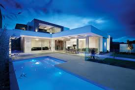 home with pool outstanding homes with l shape swimming pool design also white