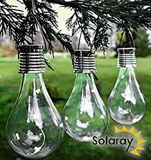 solar powered outdoor light bulbs 6 x ornamental light bulb firefly hanging solar powered outdoor