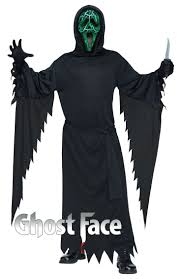 asda childrens halloween costumes smoldering ghost face mens costume includes hooded robe light up