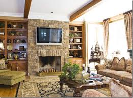 Mounting Tv Over Brick Fireplace by Walls Interiors Brick Fireplace Mantels With Tv Above And