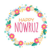nowruz greeting cards happy nowruz greeting card with flowers and leaves iranian