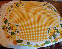 Round Kitchen Table Cloth by Kitchen Tablecloth Etsy