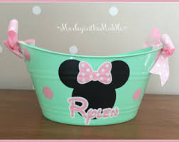 personalized mickey mouse easter basket minnie mouse basket etsy