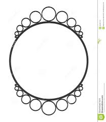 White Wall Mirror Round Blank Wall Mirror Frame Isolated On White Stock Images