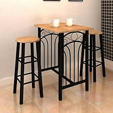 breakfast bar table set 0077 modern breakfast bar table set stools storage shelves wine rack