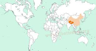 India On A Map Where Is India On The World Map Calcutta India On World Map