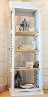 best 25 shutter shelf ideas on pinterest shutter door ideas