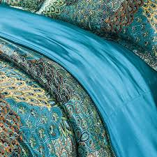 Featherbedding Amazon Com Fadfay Home Textile Peacock Feather Bedding Set