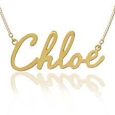 Gold Plated Name Necklace Gold Plated Sterling Silver Name Necklace