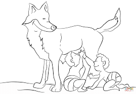 romulus and remus coloring page free printable coloring pages