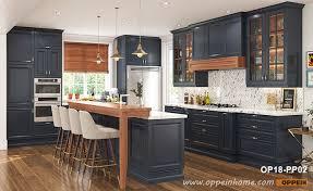 matte navy blue kitchen cabinets colorful thermofoil pvc matte l shape kitchen cabinets oppein