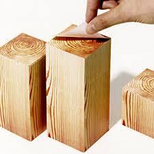 block wood kakuzai wood memo block the green