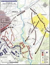 Map Of Eastern Pennsylvania by Battle Of Gettysburg Culp U0027s Hill