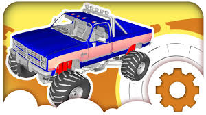 toy monster trucks racing car cartoons monster truck racing car u0026 police cars race sport