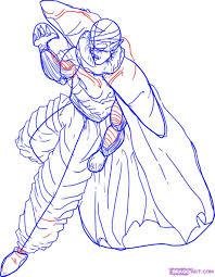 draw piccolo step step dragon ball characters anime