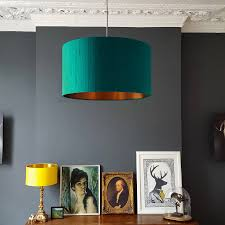 teal indian silk shade with copper or gold lining by love frankie