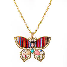 butterfly long chain necklace images Igp flirty butterfly shape long chain fashion pendant necklace for jpg
