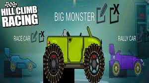 hill climb racing monster truck hill climb racing the garage new update big monster legendary