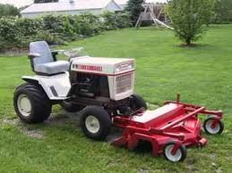 large frame with a front mount steiner mower u0027s bolens