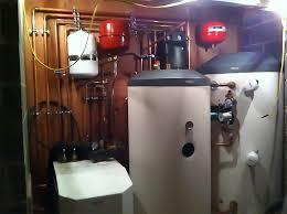 ground source heating plant room 17kw heat pump 500ltr water