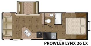 Prowler Camper Floor Plans New 2015 Heartland Prowler Lynx 26 Lx Travel Trailer At Longview