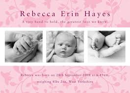 pink photo birth announcement cards buy beautiful birth
