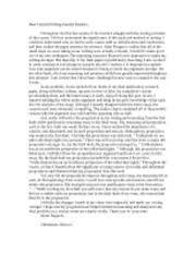 cover letter dear reader this semester the critical writing