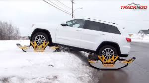 jeep snow tracks bolt on tracks turn jeeps into snowmobiles in 15 minutes