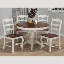 Madison County Round Dining Table In White TwoTone Finish By - Kitchen table for two