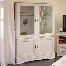 lisbon solid rubberwood china cabinet parisot elise glass door standard china cabinet reviews wayfair