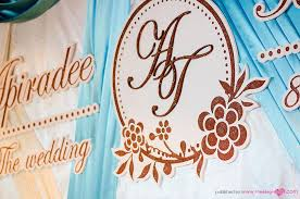 wedding backdrop logo wedding reception at aetas lumpini