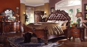 Larimer Upholstered Bedroom Set Acme Vendome California King Panel Bed With Button Tufted